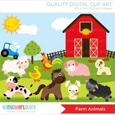 Farm Animals Clip Art.