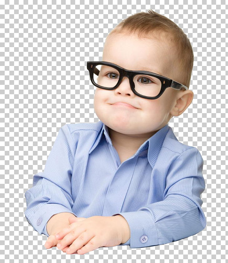 Glasses Child Toddler Photography Portrait, Real boy PNG.