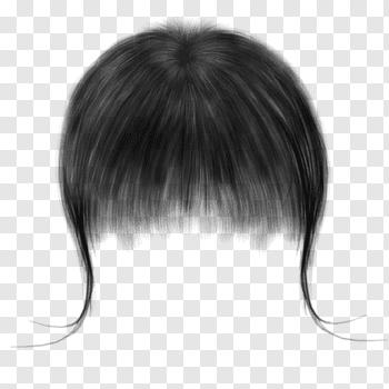 Black hair, Drawing Capelli Black hair, Real long hair free.