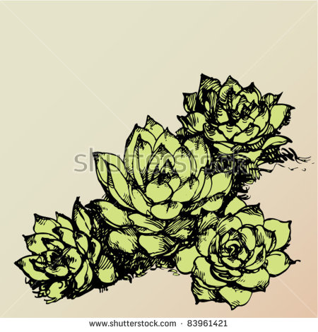 House Leek Stock Vectors & Vector Clip Art.
