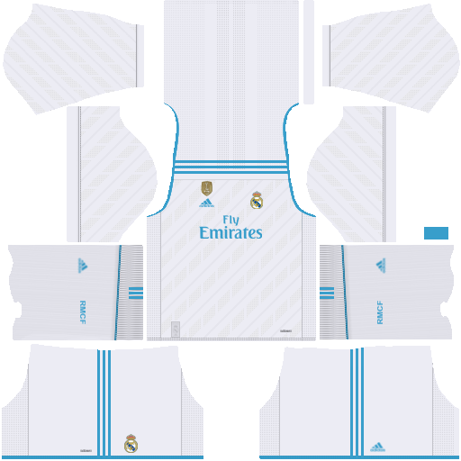 Real Madrid Home Kit 2017/2018 DLS.
