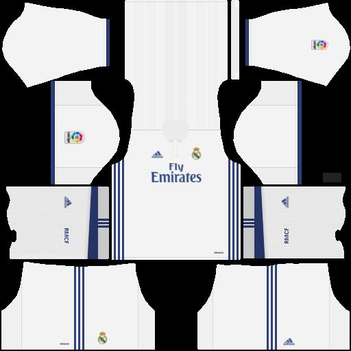 Uniformes Dream League Soccer: REAL MADRID.