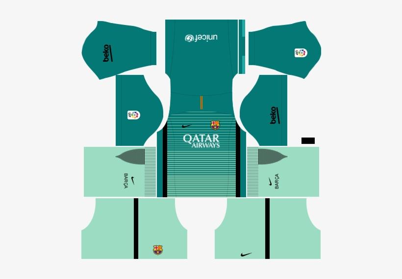 Kit Barcelona Dls16 Uniforme Alternativo.