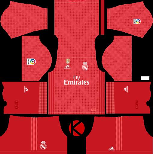 Real Madrid 2018/19 Kit.