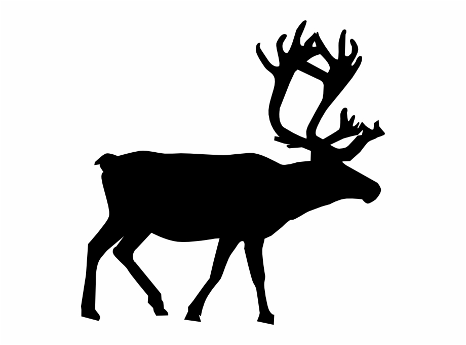 Silhouette Reindeer Clipart.