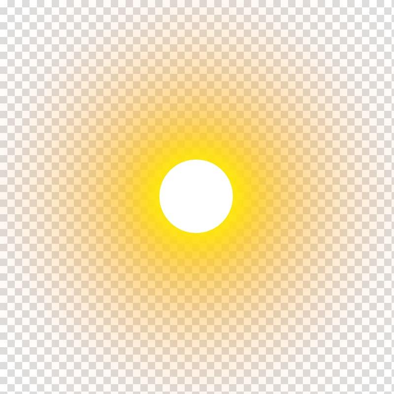 Yellow Circle , real sun , sun transparent background PNG.