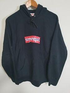 Details about Comme Des Garcons x Supreme Box Logo Hoodie Large Authentic  Large.