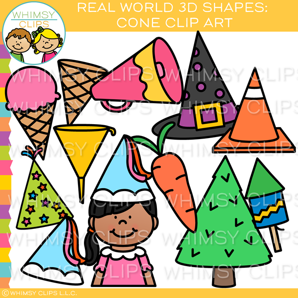Real World 3D Cone Clip Art.