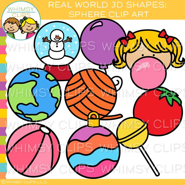 Real World 3D Sphere Clip Art.