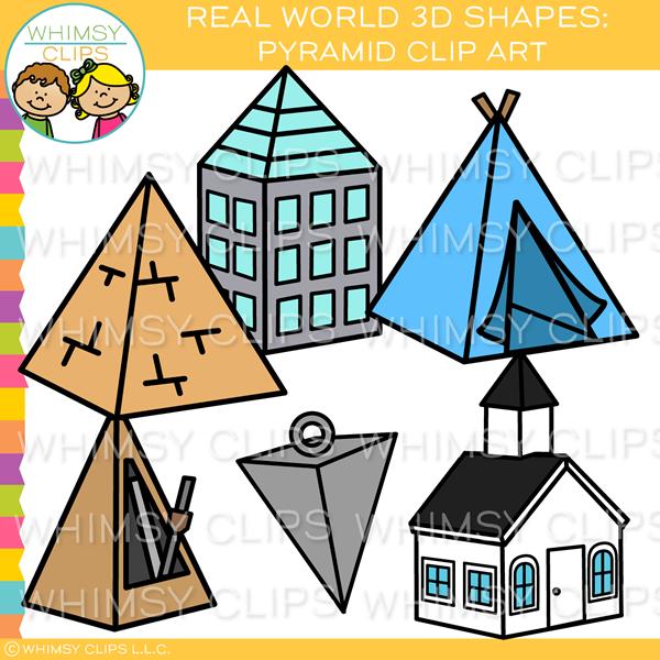 Real World 3D Pyramid Clip Art.