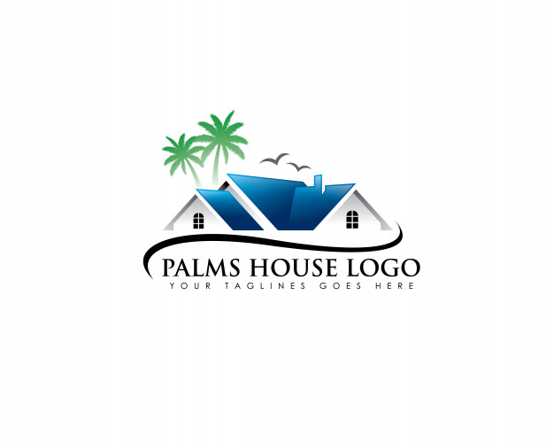 Palm realestate logo Vector.