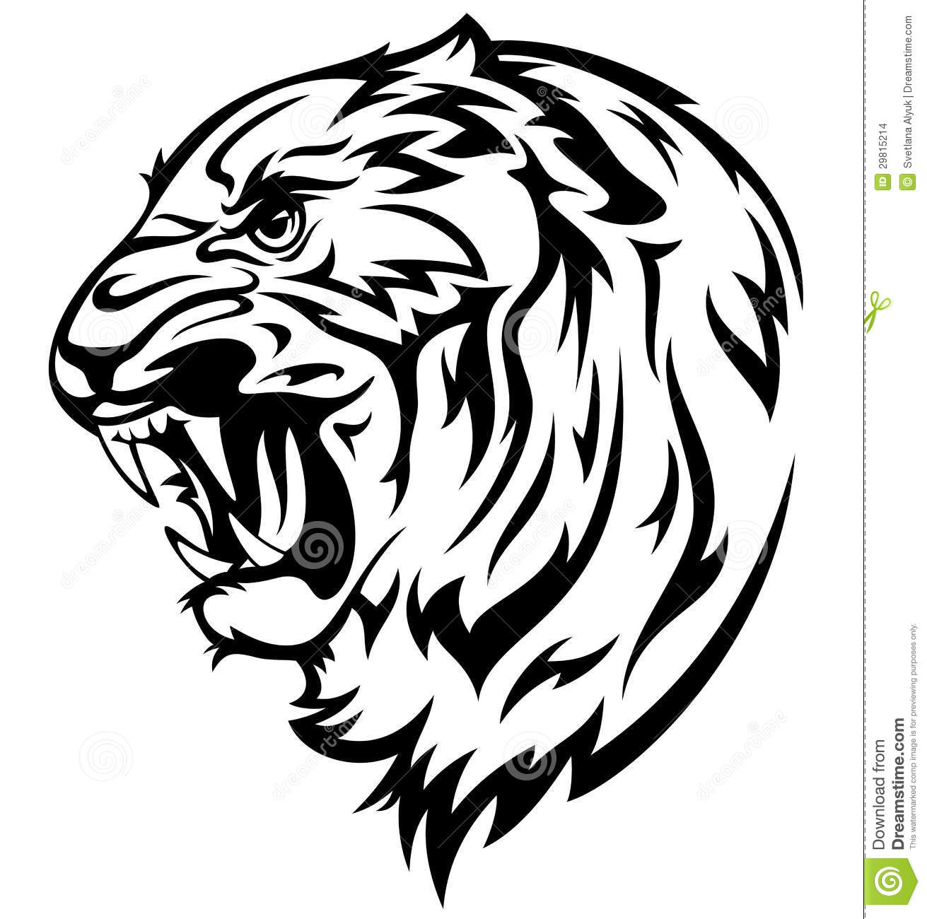 Realistic Animal Clipart Black And White Vector Transparent.