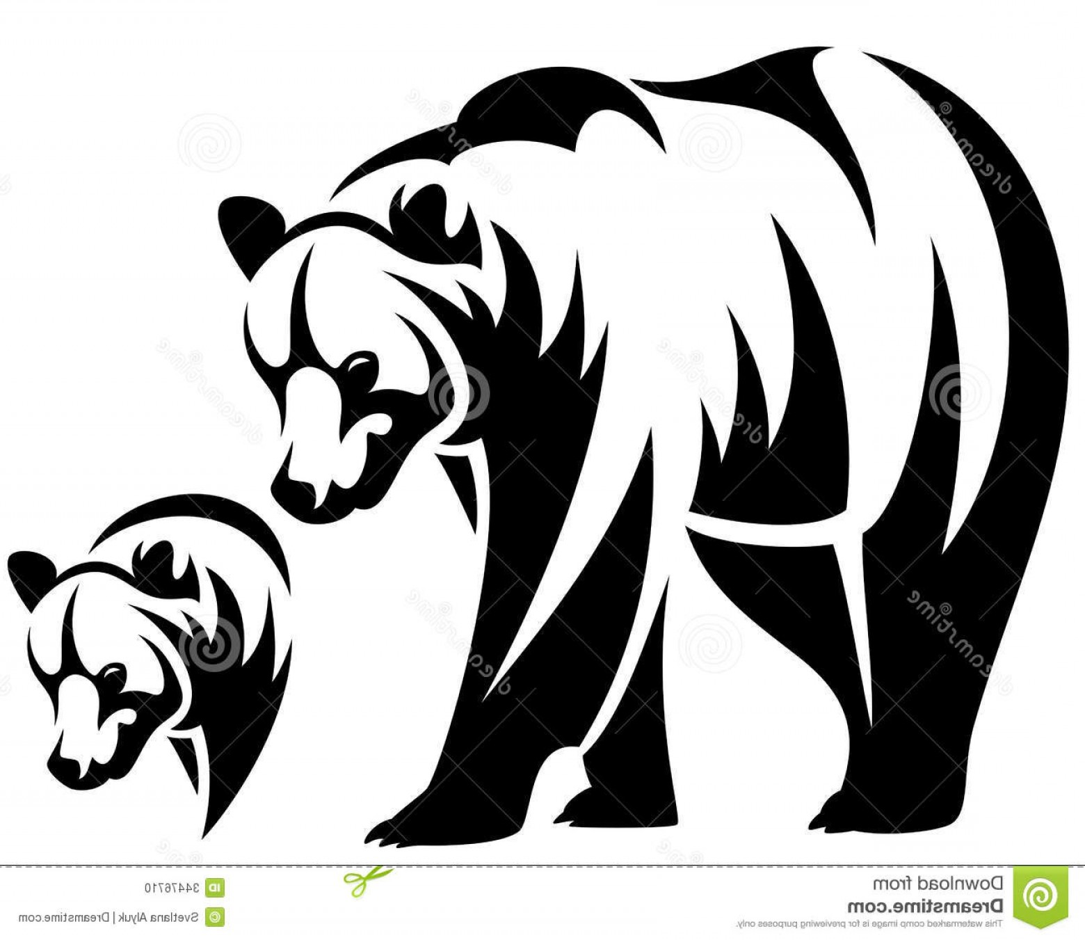 Free Black And White Animal Vector Illustration.