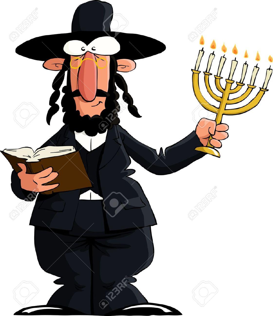 Realistic Clipart Jewish Man.