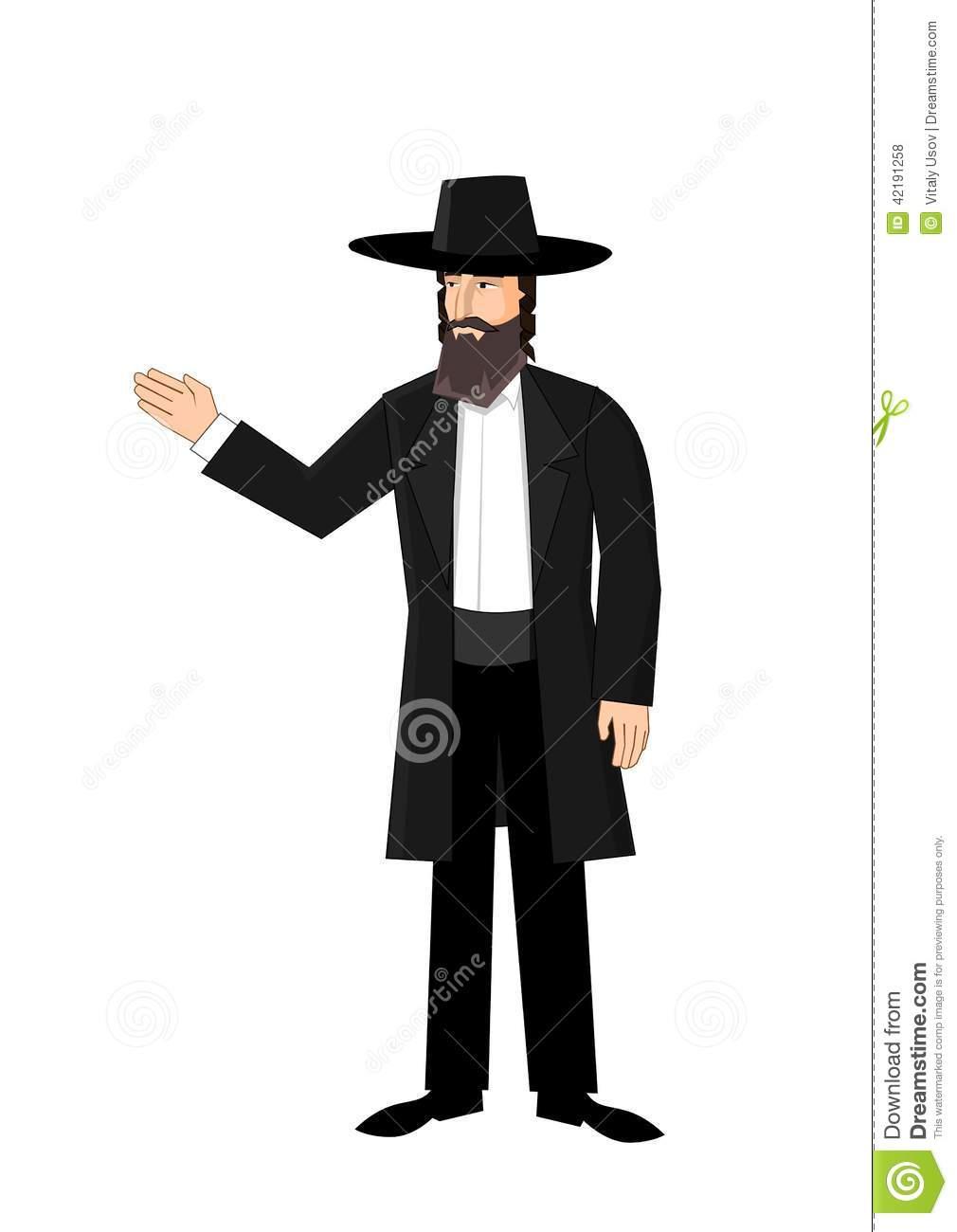 Jewish Man Clipart.