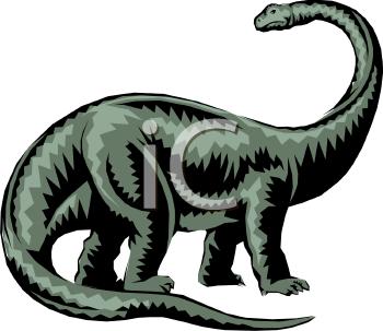 Realistic Dinosaur Clip Art.