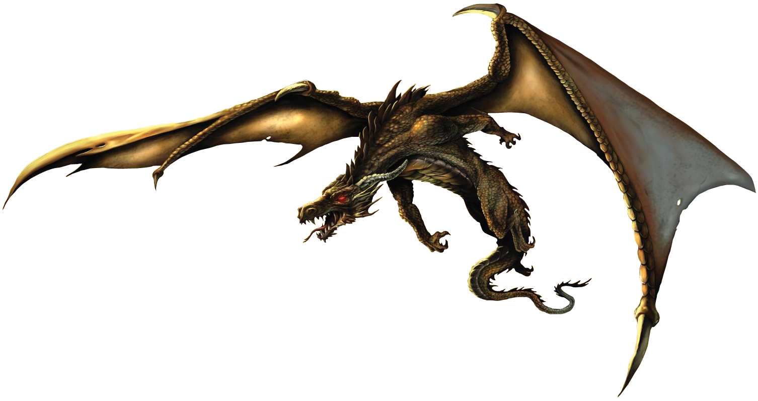 Realistic Dragon PNG Clipart.