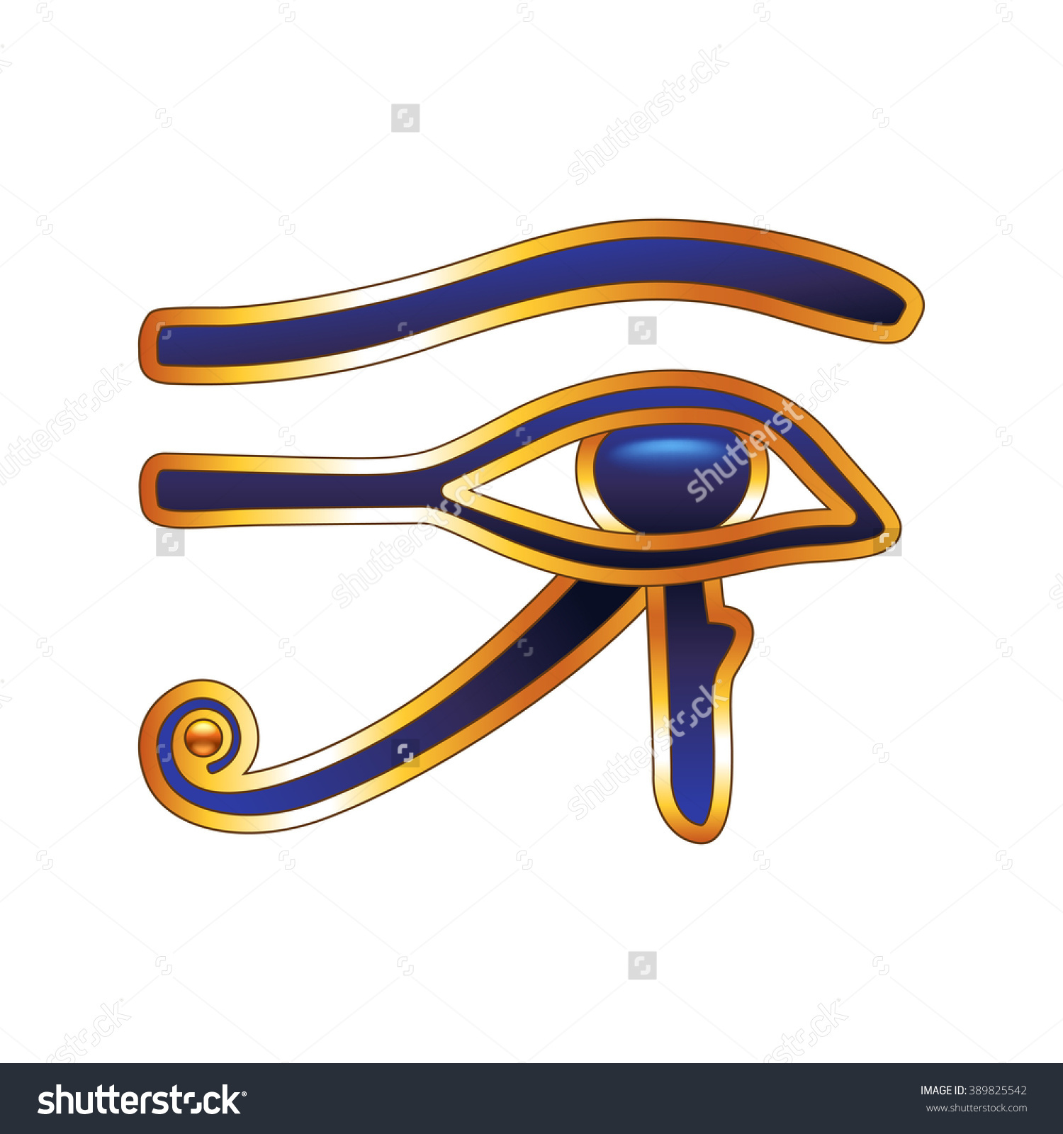 Eye Horus Isolated On Transparent Background Stock Vector.