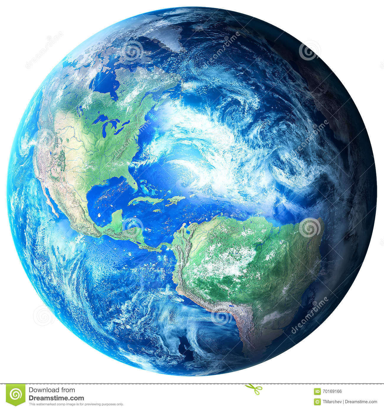 Photo Realistic Planet Earth In Transparent Background Royalty.