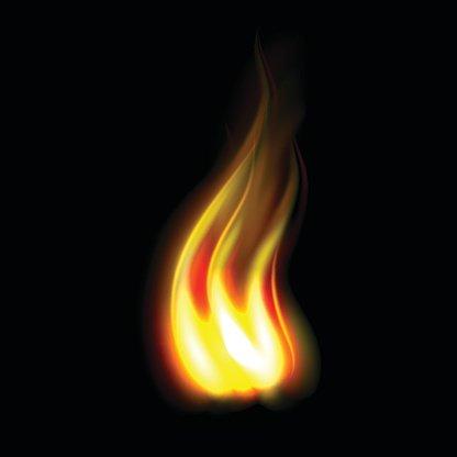 Unique realistic fire flame Clipart Image.