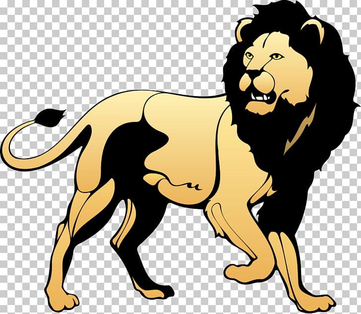 Lion Black and white Roar , Realistic Lion s PNG clipart.