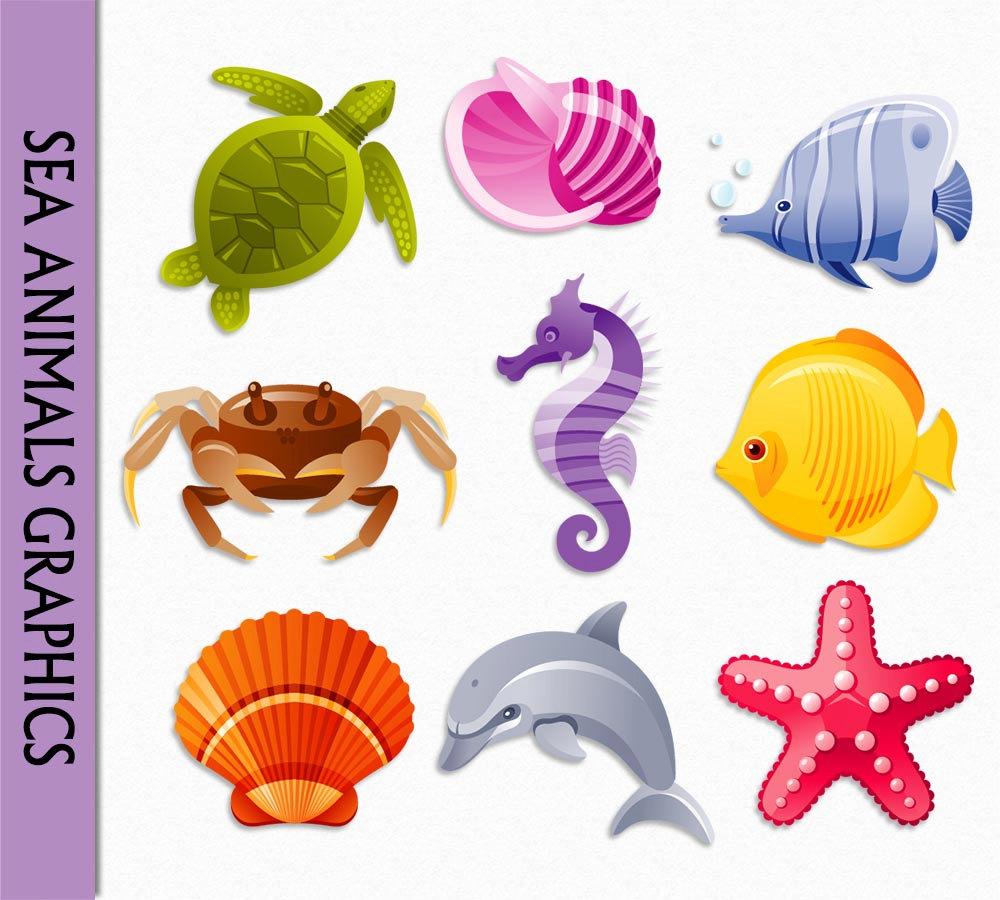 Seahorse cliparts.