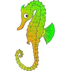 sea life clipart seahorse.