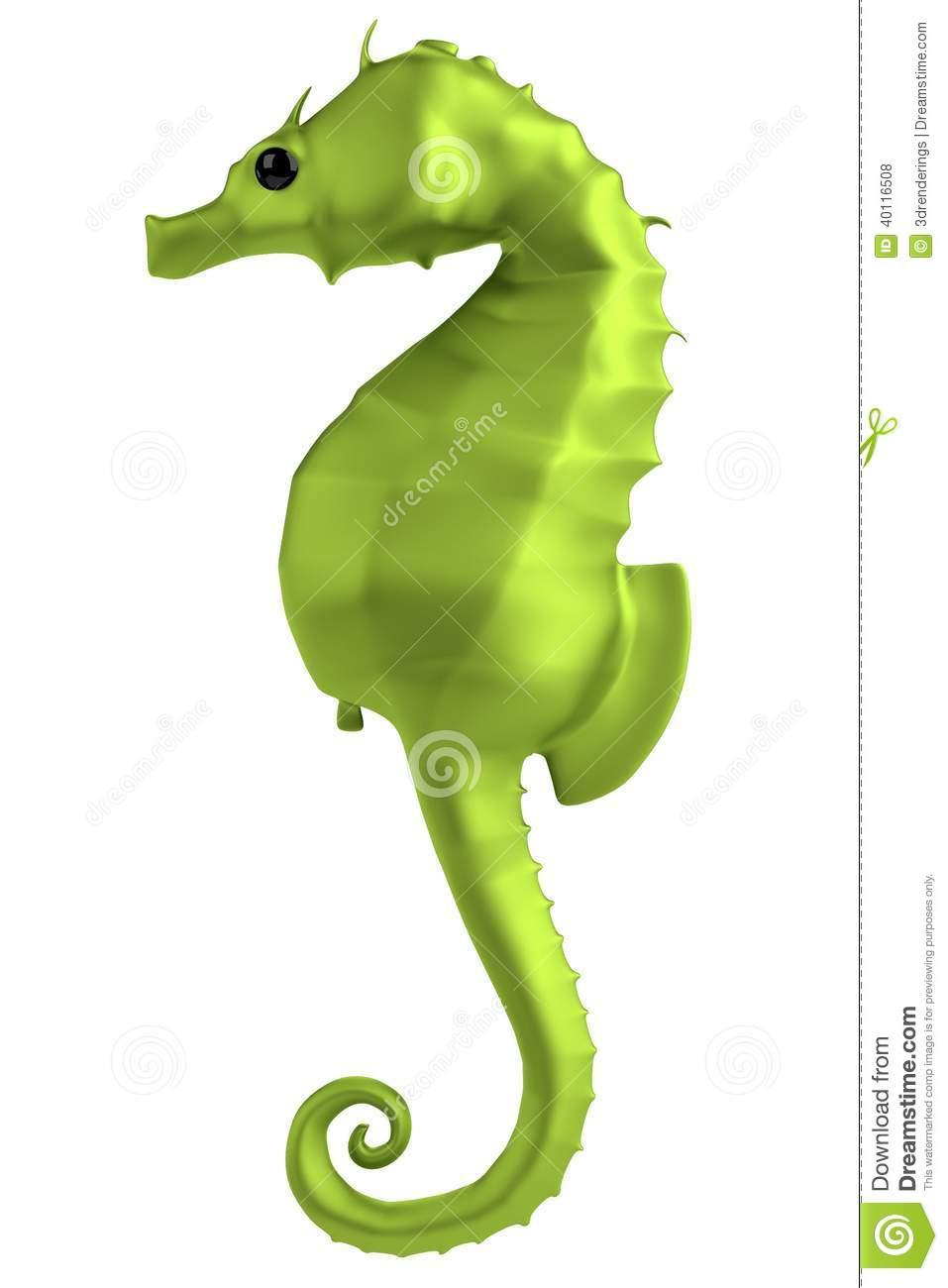 3d Render Of Seahorse Stock Illustration.