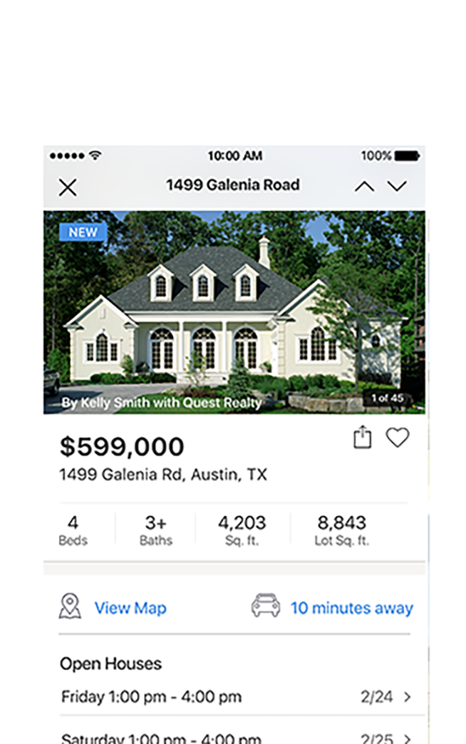 iPhone Real Estate App.