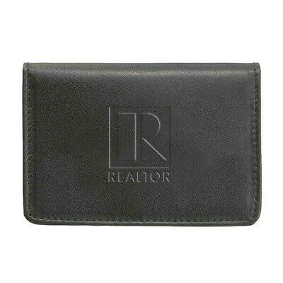 Realtor Logo Branded Business Card Wallet (Black).