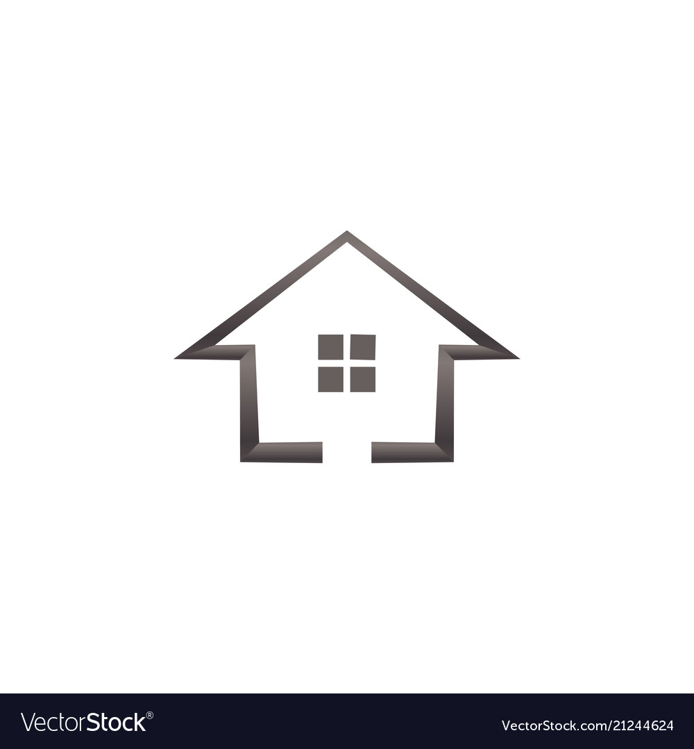 Simple house real estate logo template.