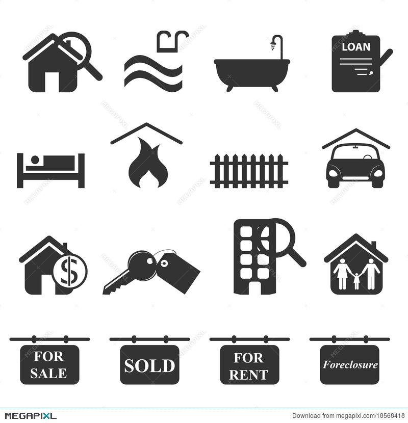 Real Estate Symbols Illustration 18568418.