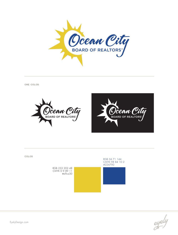 Ocean City Board of Realtors Logo Design.