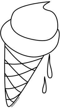 Cone Black And White Clipart.