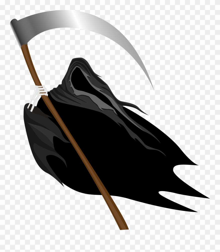 Creepy Grim Reaper Png Clipart Image.