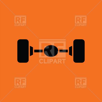 Car rear axle icon Vector Image #152469.