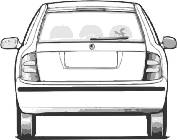 Rear View Car Clipart.