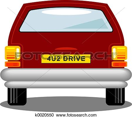 Stock Illustrations of Car Rear k0020550.