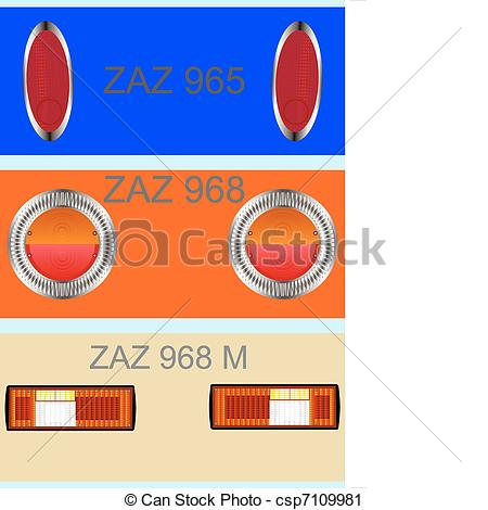 Vector Clip Art of Rear light car..