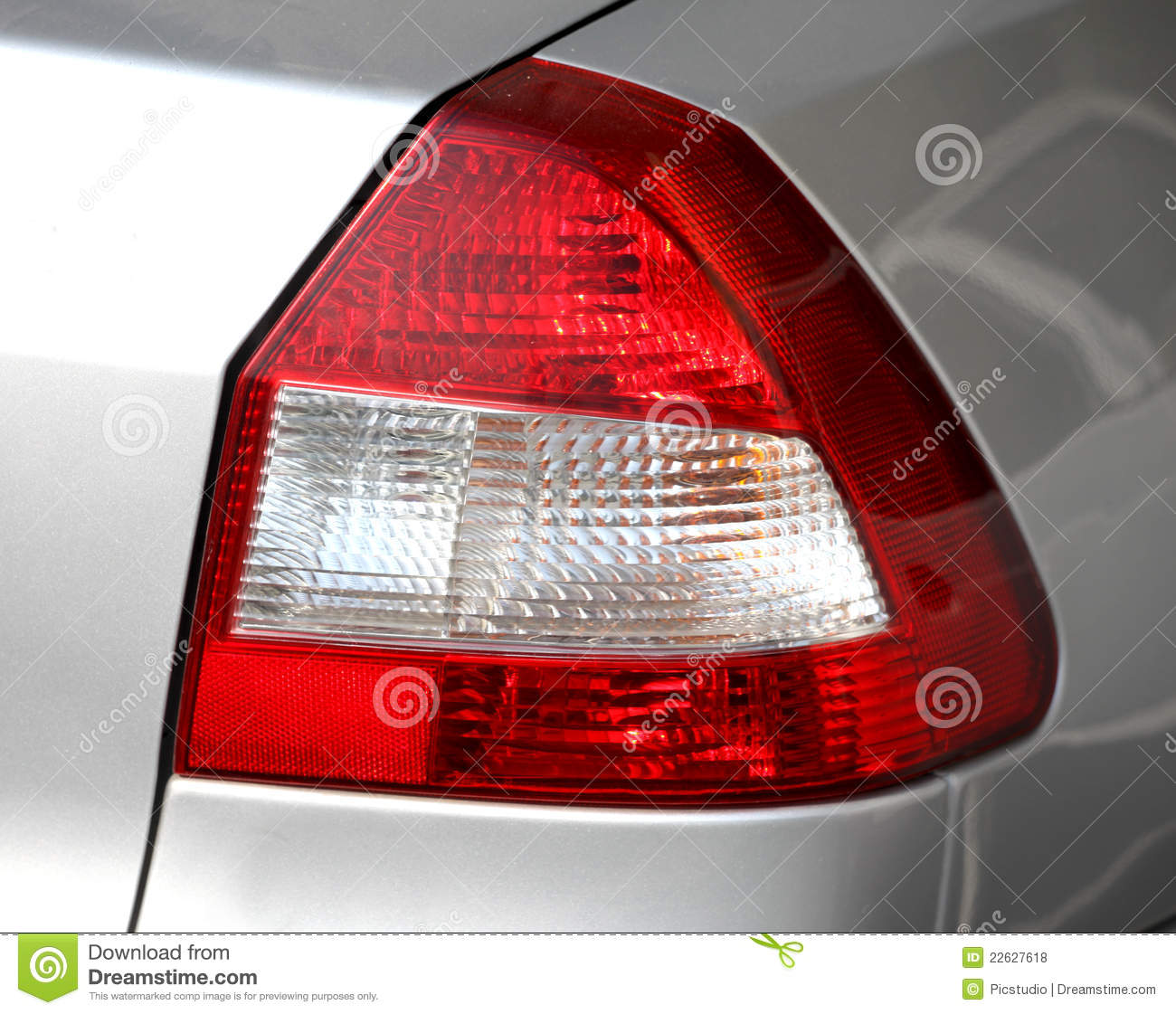 Red car light clipart.