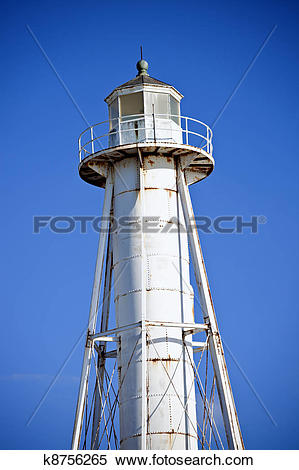 Stock Image of Boca Grande Entrance Rear Range Lighthouse k8756265.