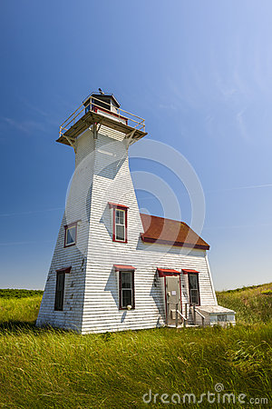 New London Range Rear Lighthouse, PEI Stock Photo.