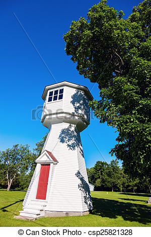 Stock Photo of Cole Shoal Range Rear Lighthouse. Ontario, Canada.