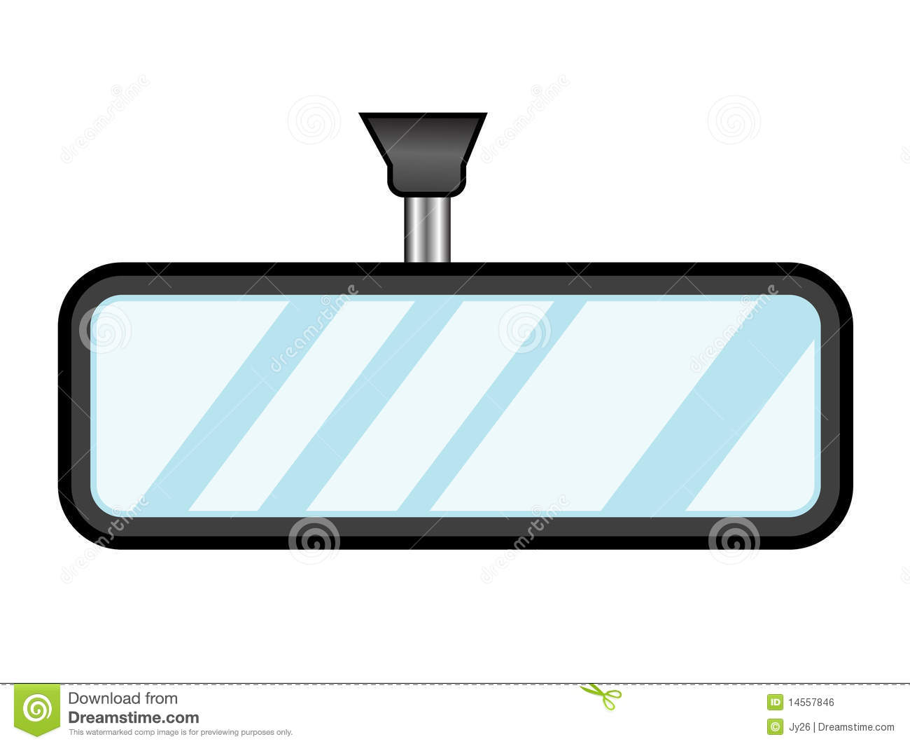 Rear View Mirror Stock Illustrations.