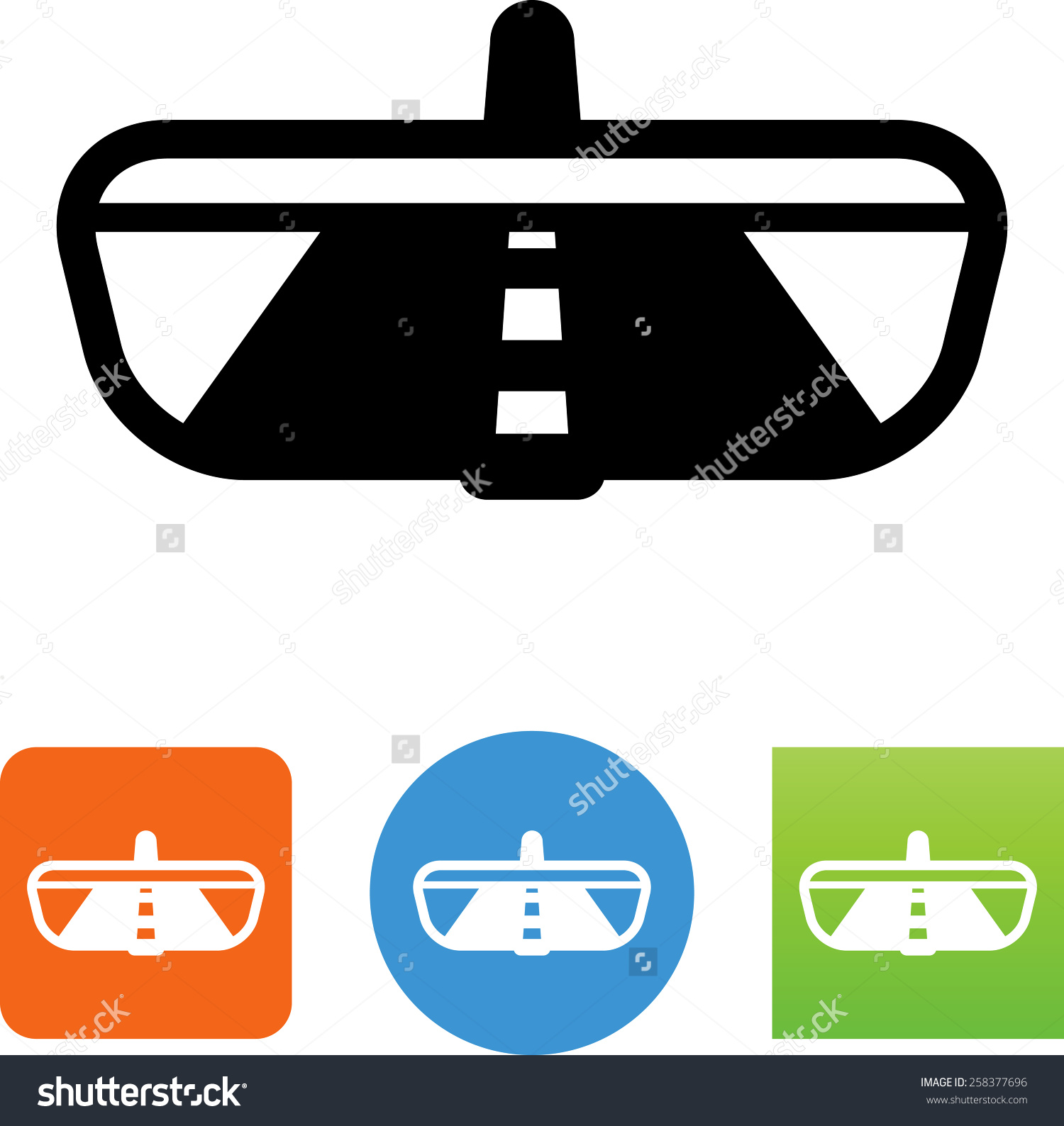 Road Rear View Mirror Symbol Vector Stock Vector 258377696.