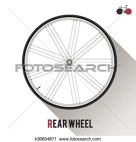 Clipart of Rear Wheel k30654871.