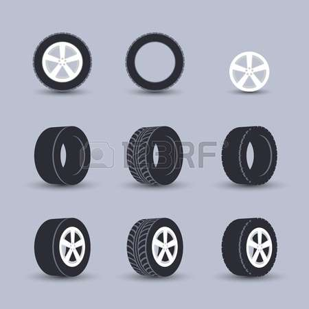 800 Rear Wheels Stock Vector Illustration And Royalty Free Rear.