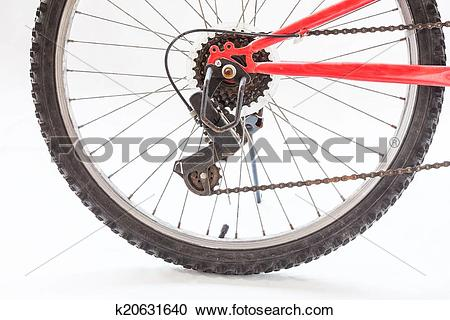 Stock Photography of Close up of rear wheel bicycle k20631640.