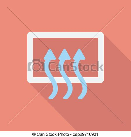 Vector Clipart of Rear window defrost icon. Flat vector related.