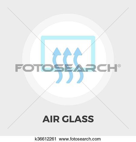 Clipart of Rear window defrost flat icon k36612261.